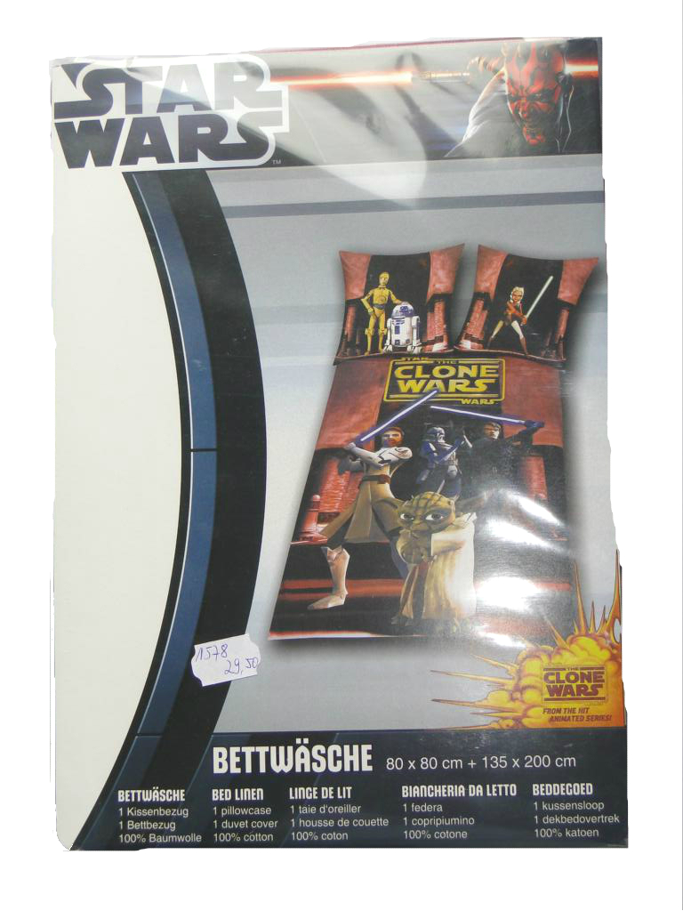 Star Wars The Clone Wars Bettwäsche Yoda Herding Günstige Kindermode